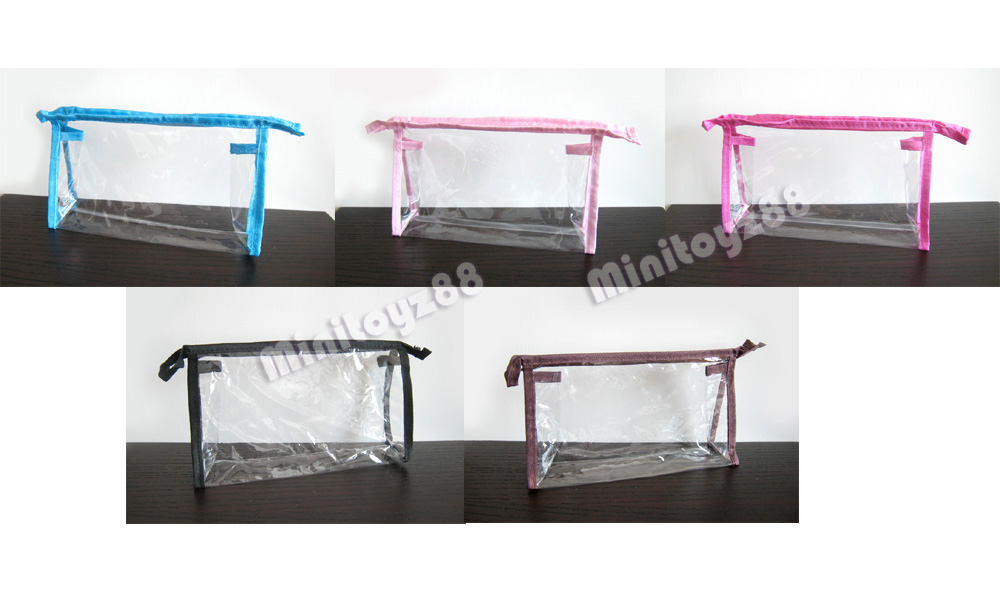 1 5 10 Clear Transparent Plastic PVC Travel Cosmetic Make Up ...