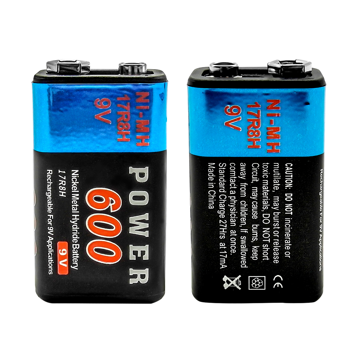 2 st ck 9v 9 volt 600mah nimh wiederaufladbare batterie f r radio gitarre rc ebay. Black Bedroom Furniture Sets. Home Design Ideas