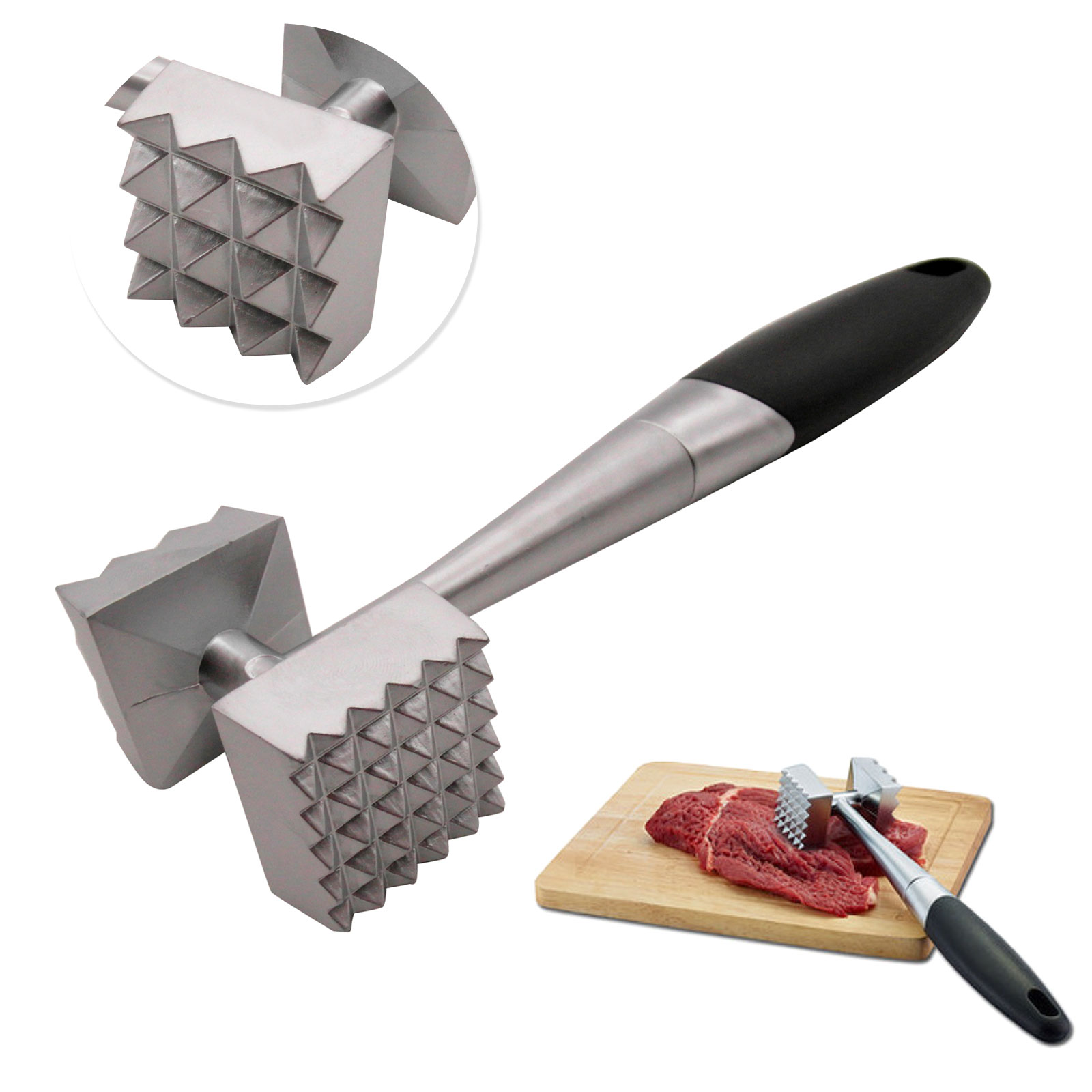 Double Side Beaf Steak Mallet Meat Tenderizer Hammer Cooking Tool For Kitchen Ebay