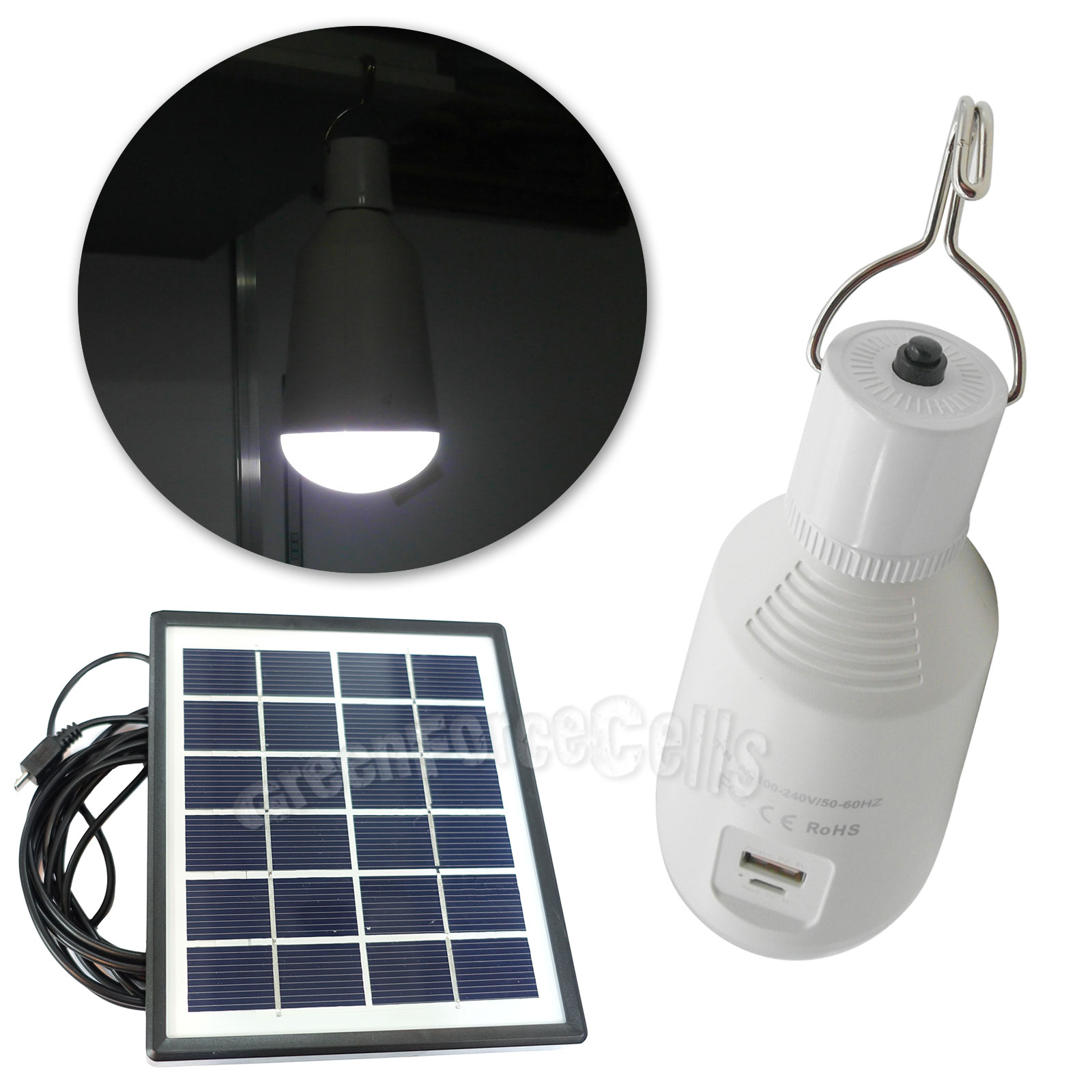 E27 Solar Battery Powered 22 Led Camping Light Outdoor: 7W Portable USB Charge LED Bulb Lamp Light W/ Hook + Solar