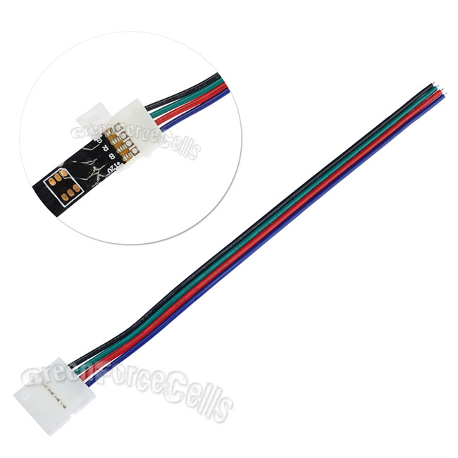 Lot 4 Pin 10mm Connector Adapter Wire Cable For Smd Led