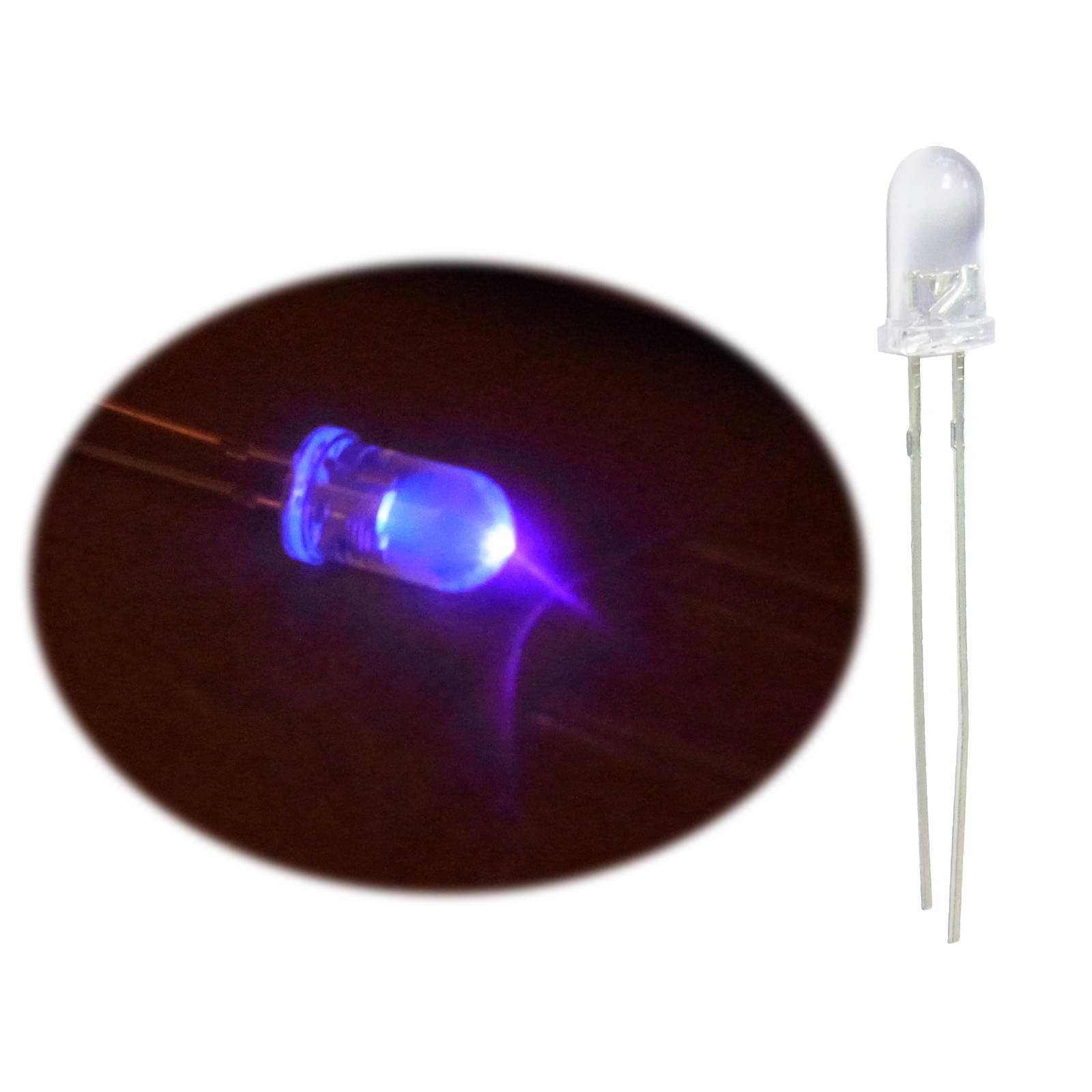 1000 PCS LED 3MM 2 Pin Round White Superbright LED Light Emitting Diode Lamp NEW
