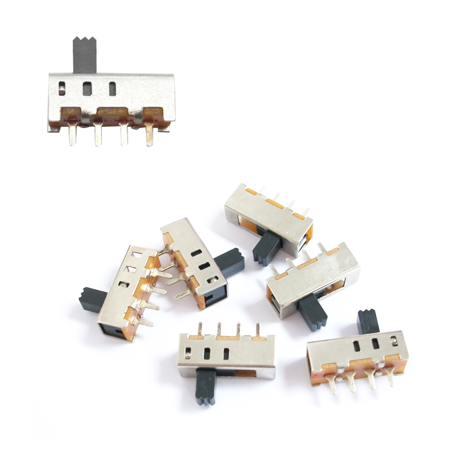 50 pc 4 Pin PCB 3 Position SPDT Mini Size Slide Switch ON-OFF ...